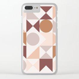 Modern Geometric 25 Clear iPhone Case