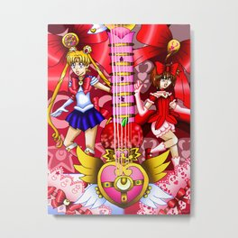 Sailor Mew Guitar #7 - Sailor Moon & Mew Ringo Metal Print