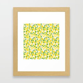 california lemons Framed Art Print