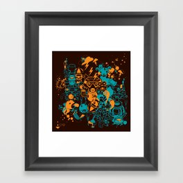 Dream Factory Orange and Blue Framed Art Print