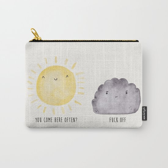 The Sun and the Rain-cloud (Watercolour) Carry-All Pouch