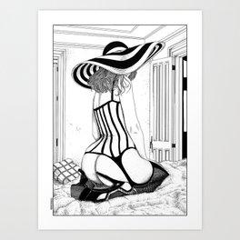 asc 627 - L'inconnue au chapeau (MB) Art Print