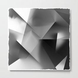 Monochromatic Cubism Metal Print