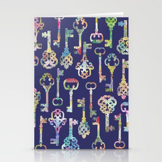 Rainbow Keys Stationery Cards