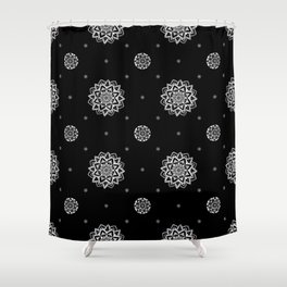 Virginia Black Shower Curtain