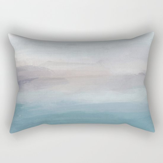 Light Gray, Mauve, Turquoise Aqua Blue Print Modern Wall Art, Abstract Painting by rachelelise