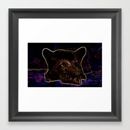 Neon French Lights Framed Art Print