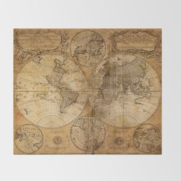 World Map 1746 Throw Blanket