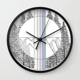 Geometric Colorado Art Wall Clock
