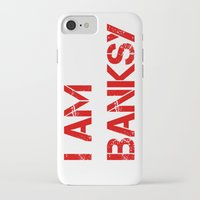 banksy iPhone & iPod Cases featuring I am Banksy by PupKat