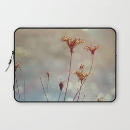 Soft Queen Anne's Lace and Bokeh Laptop Sleeve
