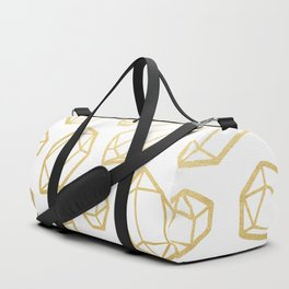 Gold and White Gemstone Pattern Duffle Bag