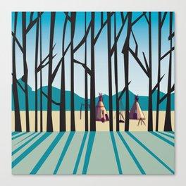 Sleepy Mountains Canvas Print