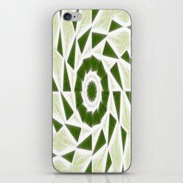 Green White Kaleidoscope Art 3 iPhone Skin