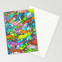 Cats Kitties Squared in Full Color by Lisa Rotenberg Stationery Cards