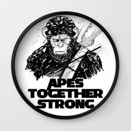 Caesar: Apes Together Strong Wall Clock