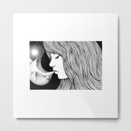 INHALE, EXHALE Metal Print