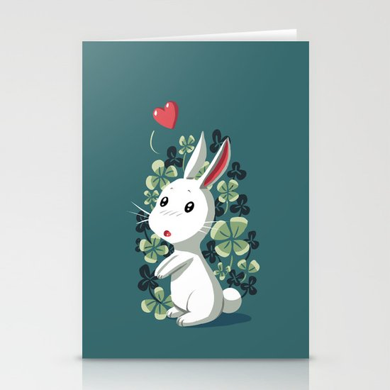 Clover Bunny Stationery Cards
