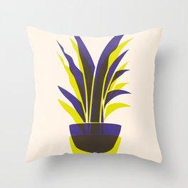 Spiky Plant (two colour mix) Throw Pillow