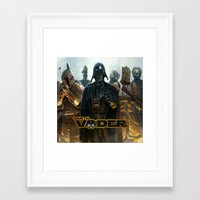 darth vader Framed Art Prints featuring Darth Vader by store2u