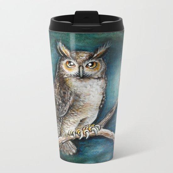 Moon Owl Metal Travel Mug