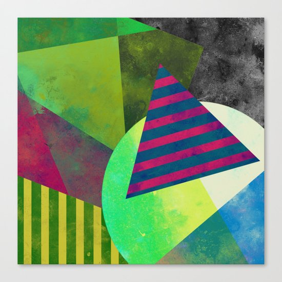 Textured Shapes - Abstract, geometric artwork Canvas Print
