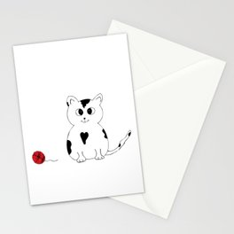 Kitten with a ball of wool Stationery Cards