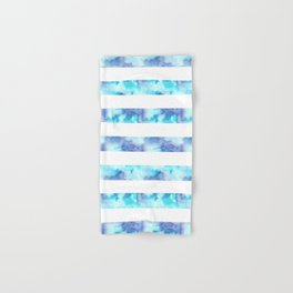 Blue & Purple Watercolor Stripes Hand & Bath Towel