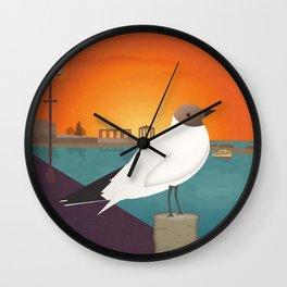 Lefkada, Seabird at Sundown (GR) Wall Clock