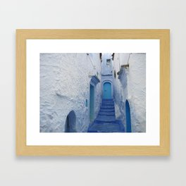 Moroccan Blues Framed Art Print
