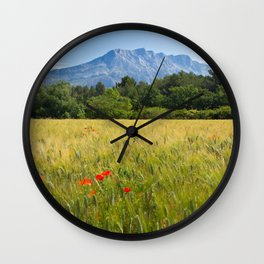 Sainte Victoire Mountain Wall Clock