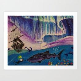 I was born in the ocean. Art Print