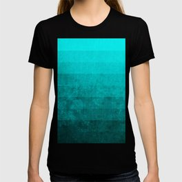 teal grunge T-shirt