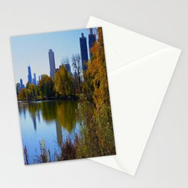 Chicago Fall Reflection (Chicago North Pond Collection) Stationery Cards