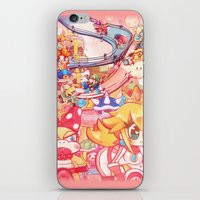 mario kart iPhone & iPod Skins featuring Mario kart - Sweet Sweet canyon by SweetOwls