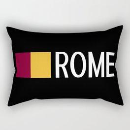 Italy: Roman Flag & Rome Rectangular Pillow