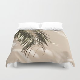 tropical palm leaves vi Duvet Cover