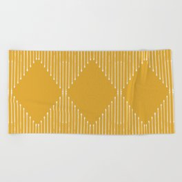 Geo / Yellow Beach Towel