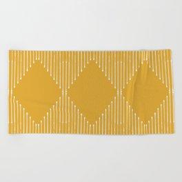 Geo (Yellow) Beach Towel