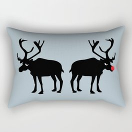 Angry Animals: Rudolph & Prancer Rectangular Pillow