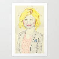 leslie knope Art Prints featuring leslie knope by withapencilinhand