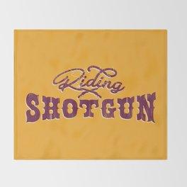 Riding Shotgun Throw Blanket