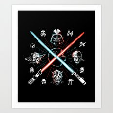 Choose a side, you must Art Print