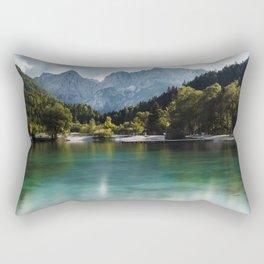 Lake Jasna in Kranjska Gora, Slovenia Rectangular Pillow