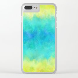Sunflower and Ice Abstract Clear iPhone Case