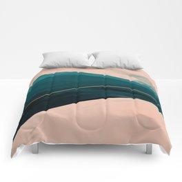 California Watercolor Winter Comforters