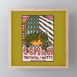 Gemini Plant Framed Mini Art Print