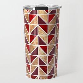 Xmas Geometric Pattern Travel Mug