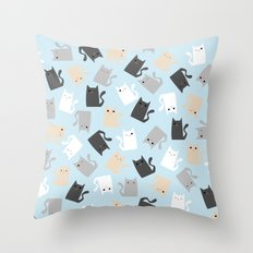 Scattercats Throw Pillow