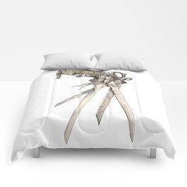 Scissorhands (Sepia-R) Comforters